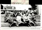 Class of 1967 Students Sitting on the Stone Steps, Student Groups, ca. early 1960s