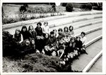 Twenty Students Seated on White Hall's Stairs, Class of 1967, ca. early 1960s