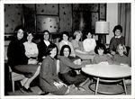 Eleven Students Near Decorated Windows, Student Groups, ca. early 1960s