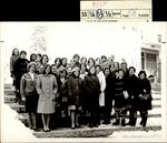Thirty-One Students on the Snow Covered Steps, Class of 1966, ca. 1968