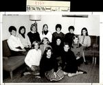 Thirteen Students in the Couch Corner, Class of 1969, ca. 1966