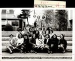Twenty-Seven Students On the Steps of White Hall, Class of 1967, ca. 1966